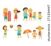 group of people on the beach.... | Shutterstock .eps vector #271334447