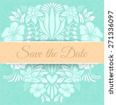 save the date vector card with... | Shutterstock .eps vector #271336097
