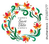 Vector Floral Frame With...