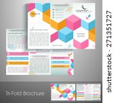 professional trifold brochure ... | Shutterstock .eps vector #271351727