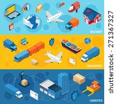 logistics banner horizontal set ... | Shutterstock .eps vector #271367327