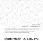 abstract geometric monochrome... | Shutterstock .eps vector #271387193