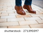 outdoor shoes men man  | Shutterstock . vector #271390397