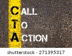 acronym cta as call to action.... | Shutterstock . vector #271395317