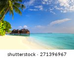 tropical island with sandy... | Shutterstock . vector #271396967