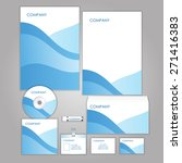 corporate identity business set ... | Shutterstock .eps vector #271416383