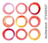 set of vector watercolor rings... | Shutterstock .eps vector #271432427