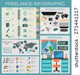 freelance infographic template. ...   Shutterstock .eps vector #271441217