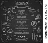 restaurant food menu design... | Shutterstock .eps vector #271452473