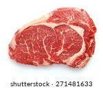 fresh raw beef steak isolated... | Shutterstock . vector #271481633