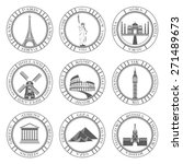 stickers and icons of travel.... | Shutterstock .eps vector #271489673