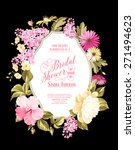 bridal shower invitation card...   Shutterstock .eps vector #271494623