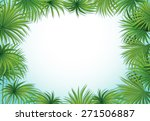 frame of palm leaves on white... | Shutterstock .eps vector #271506887