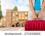 tourist  holiday  girl. | Shutterstock . vector #271523003
