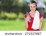 exercising  sport  women. | Shutterstock . vector #271527887