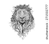 Graphic Black Vector Lion....
