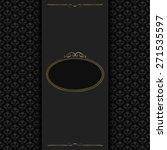 vintage background  template... | Shutterstock . vector #271535597