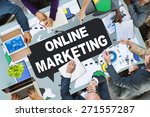 online marketing promotion... | Shutterstock . vector #271557287