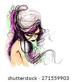 background with a portrait of... | Shutterstock .eps vector #271559903
