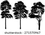 illustration with pine... | Shutterstock .eps vector #271570967