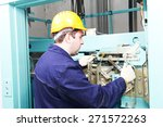 male technician machinist... | Shutterstock . vector #271572263
