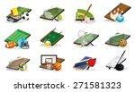 Set Of Sport Fields  Equipment...