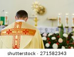 Catholic Church Priest In...