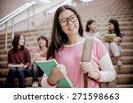 group of happy teen high school ... | Shutterstock . vector #271598663