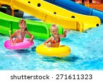 Child On Water Slide At...