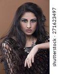 beautiful indian female model  | Shutterstock . vector #271623497
