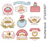 bakery badges labels logos...