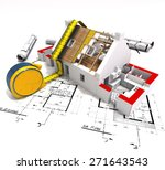 3d rendering of a house under... | Shutterstock . vector #271643543