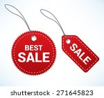 red sale tags | Shutterstock .eps vector #271645823