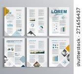 blue brochure template design... | Shutterstock .eps vector #271656437