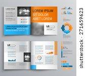 classic white brochure template ... | Shutterstock .eps vector #271659623