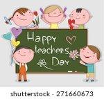 illustration of kids... | Shutterstock .eps vector #271660673