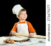 Little Boy As Chef  Making...