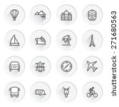 travel flat contour icons on... | Shutterstock .eps vector #271680563