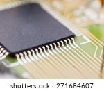 electronic chip on circuit board | Shutterstock . vector #271684607