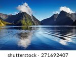 fiord milford sound  south... | Shutterstock . vector #271692407