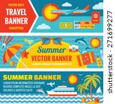 summer travel   decorative... | Shutterstock .eps vector #271699277