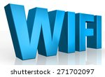 3d wifi text on white background | Shutterstock . vector #271702097