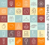 vector set of linear icons  ... | Shutterstock .eps vector #271714463