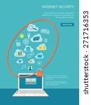 flat design modern vector... | Shutterstock .eps vector #271716353