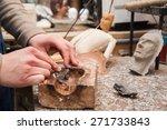 hands of a sicilian puppet...   Shutterstock . vector #271733843