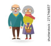 vector fashion hipster people.... | Shutterstock .eps vector #271746857