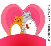two lovers cat on a background... | Shutterstock .eps vector #271747943