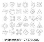 set of outline hipster logos... | Shutterstock .eps vector #271780007