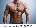 torso of attractive male body... | Shutterstock . vector #271785713