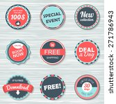 vintage labels template set ...